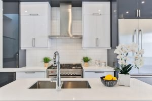 When planning your kitchen remodelling in Melbourne, consider integrating your appliances like the fridge in this image